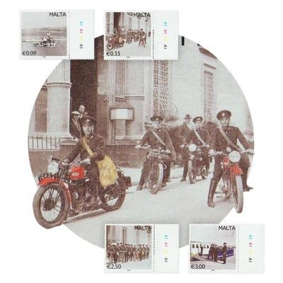 Мальта Почта Гидросамолет Мотоцикл Велосипед Почтальон **