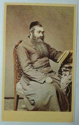 открытка Портрет Еврея с книгой Кригер 1860 SPK