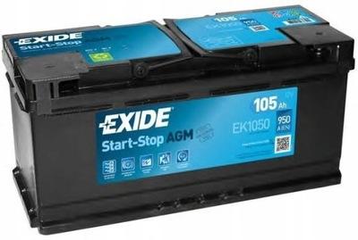 EXIDE EK1050 AGM 105AH 950A START СТОП P+