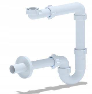 Syfon umywalki przyścienny oszczędzający miejsce
