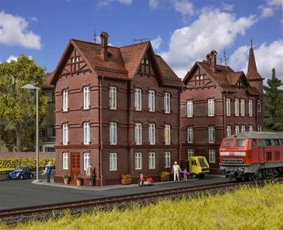 Железнодорожная дом передвижной дом с коньком, масштаб H0