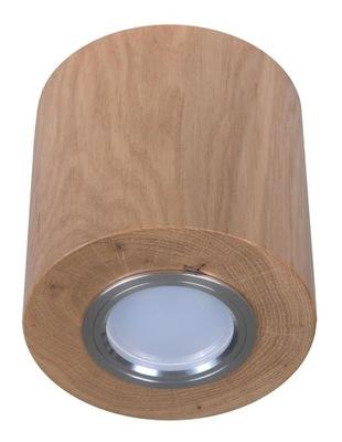 Prírodné wild dubového dreva strop žiarovka GU10 kolo