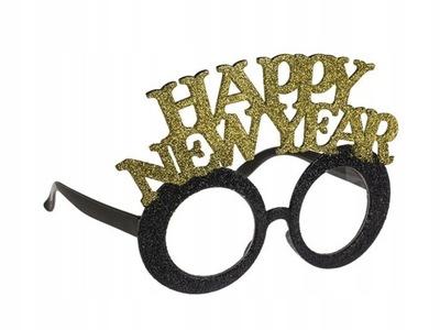 OKULARY HAPPY NEW YEAR SYLWESTER IMPREZOWE BROKAT