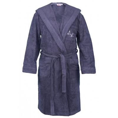 GRUBY płaszcz kąpielowy frotte PKH grafit XL