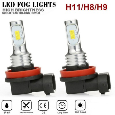 ЛАМПОЧКИ LED (СВЕТОДИОД ) H8/H9/H11 12V-24V CSP БЕЛЫЕ 80W 2 ШТУКИ.