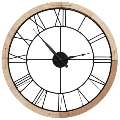 БОЛЬШОЙ часы instagram BLACK Металл Дерево круглый 60cm