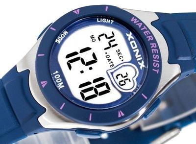 Elektroniczny Zegarek XONIX WR100m Dla Dziewczynki