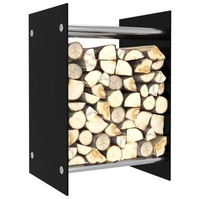 j9k stojan na palivové drevo, čierny, 40x35x60