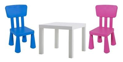 IKEA stolik LACK + 2 krzeselka MAMMUT mamut