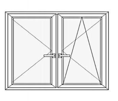 Okno PCV W 6-kom 70mm Białe RU+R 1765x1435 180x150