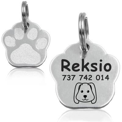 adresówka Идентификатор для Собаки Кошки Лапа Металл