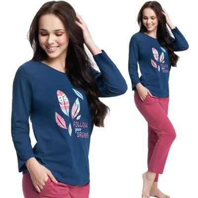 Piżama damska z kieszeniami LUNA 0576 3XL