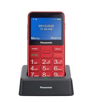 Panasonic KX-TU155 Telefon Dla Seniora czerwony