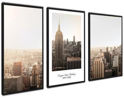 Plakaty nowoczesne obraz w ramie Nowy Jork SEPHIA