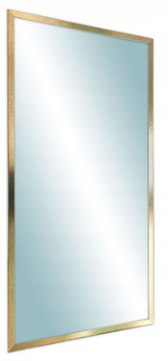 зеркало в плечо 120x50 современная узкая Рама золота