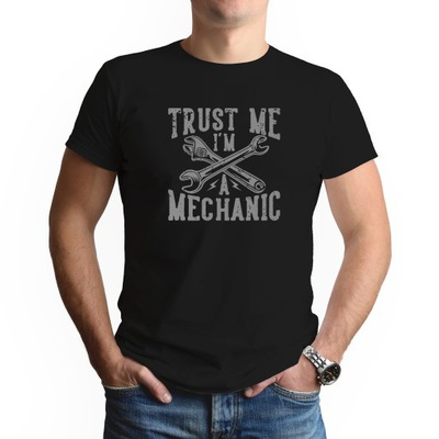 Koszulka MĘSKA S Czarna Prezent DLA MECHANIKA 01
