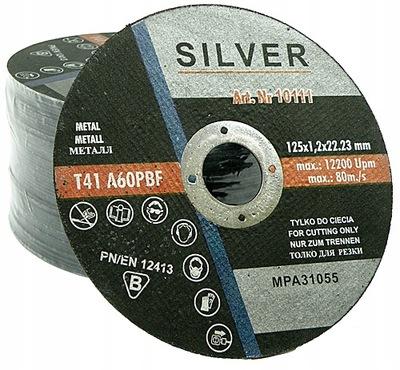 50x TARCZA DO CIĘCIA METALU 125 mm x 1,2 SILVER