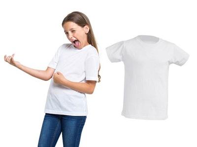 T-SHIRT DZIECIĘCY koszulka JHK na WF 5-6 biała 116