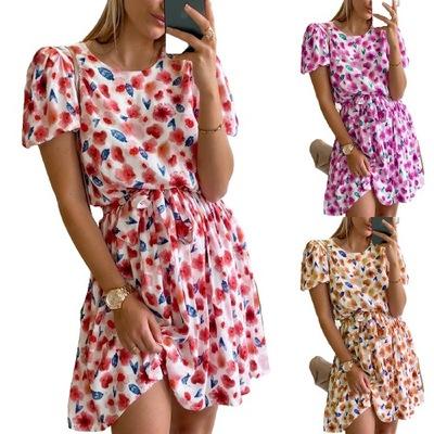 letnia damska piękna plisowana midi Sukienki