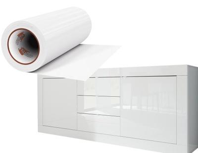 пленка Фанера Мебель белая блеск 50x100cm Германия