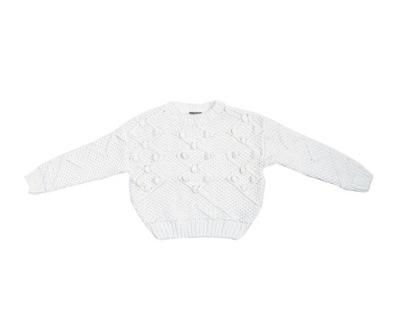 PEPCO Dziewczęcy sweterek z pomponikami 13/14 Biał