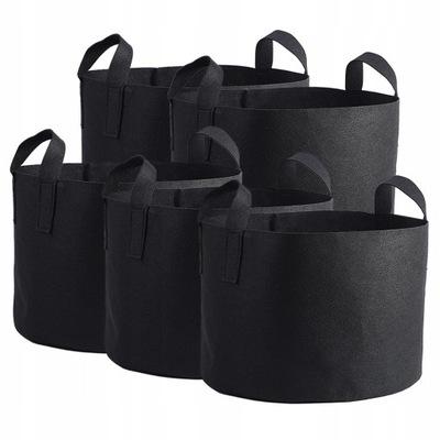 1MM czarna torba na rośliny 28x40cm 10 galonów