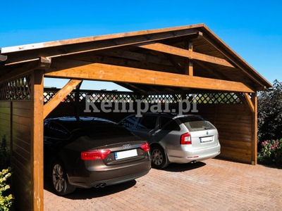Wiata garażowa , wiata drewniana
