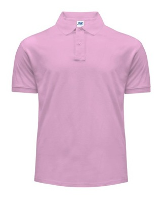 Koszulka POLO 210g męska 100% bawełna JHK PINK L