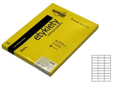 ETYKIETY SAMOPRZYLEPNE A4 70x29,6mm 3x10 3000szt
