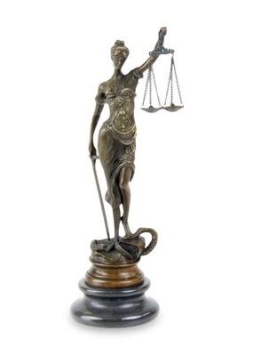 Rzeźba Brąz Temida Prezent dla Adwokata Sędziego