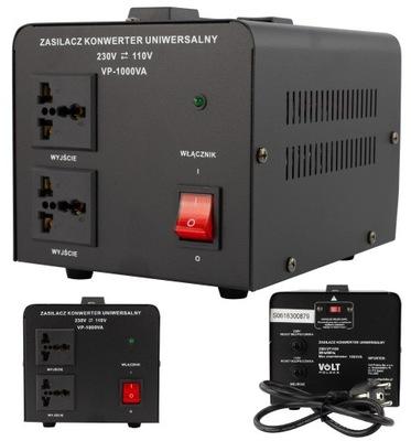 Zasilacz konwerter transformator 230V / 110V 1000W
