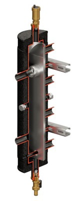 Hydraulická spojka, rozdeľovač 2KC + CONDENS 55kW