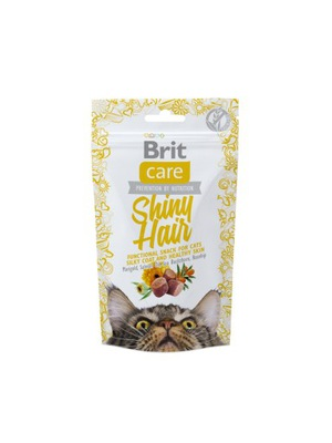 Brit Care Cat Snack Shiny Hair 50 г ??? деликатесом