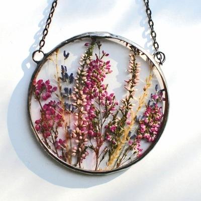 сушеные цветы , Декор террариум, Mariaela кулон