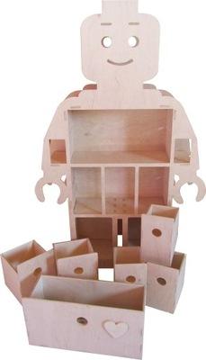 полка на строения из кубиков, человечков ЛЕГО +ящик