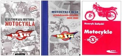 MOTOCYKLE WSK 125 175 1954-85 historia 2x+obsługa