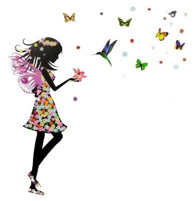 Samolepky na stenu Fairy Girl