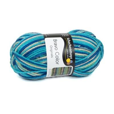 50g włóczka akryl Bravo Color niebieski 02119