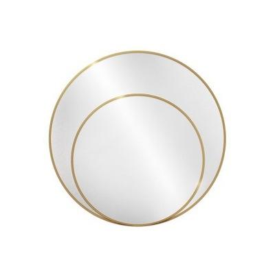 Okrúhle zrkadlo LUNA v zlatom ráme 110 CM