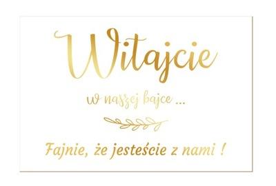 Tablica Powitalna Dekoracja Ślub Wesele 60x45