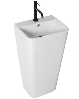 Biele stojace keramické umývadlo ARIS Rea