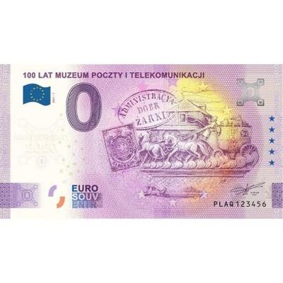 0 Euro, 100 lat Muzeum Poczty Anniversary