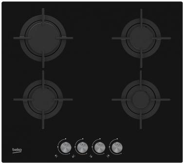 плита газовая Beko HILG64222S черные стекло чугун