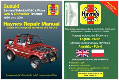 GEO & CHEVROLET TRACKER 1986-2001 MANUAL