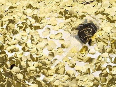 Strzelające Konfetti Push Pop Tuba Złote Urodziny