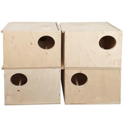 будка гнездования - для волнистого попугая 4 штуки