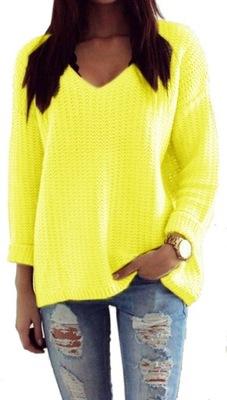 Mikos sweter damski w serek V 627