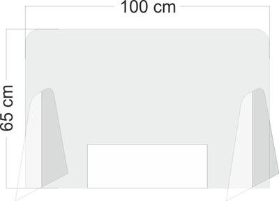 Pleksa osłona na ladę 100x65 pleksi 4mm