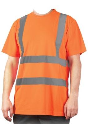 Koszulka odblaskowa t-shirt pomarańczowa - r. S