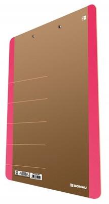 Clipboard DONAU Life, karton, A4, z klipsem, różow